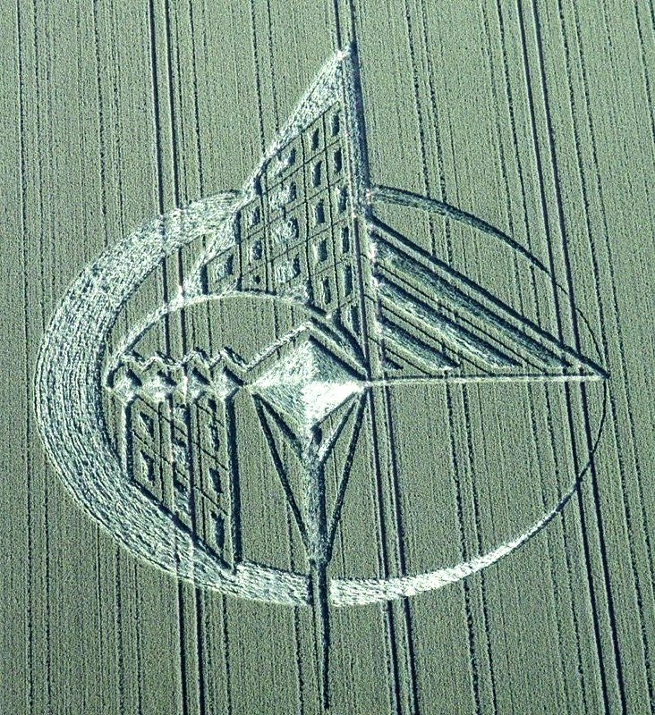 crop circle 2013 wiltshire UK July