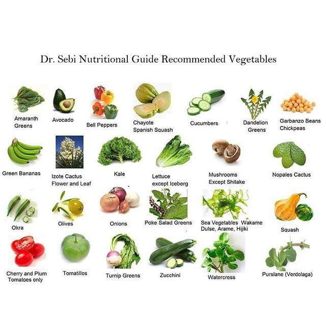 Sebi vegetables