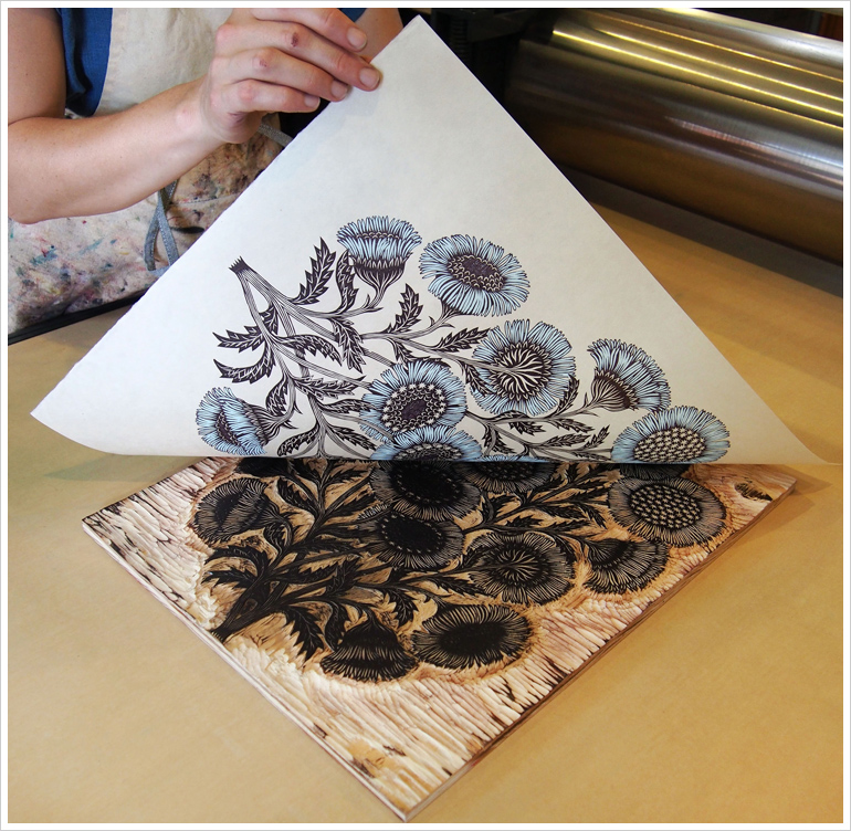 wood cut flowers