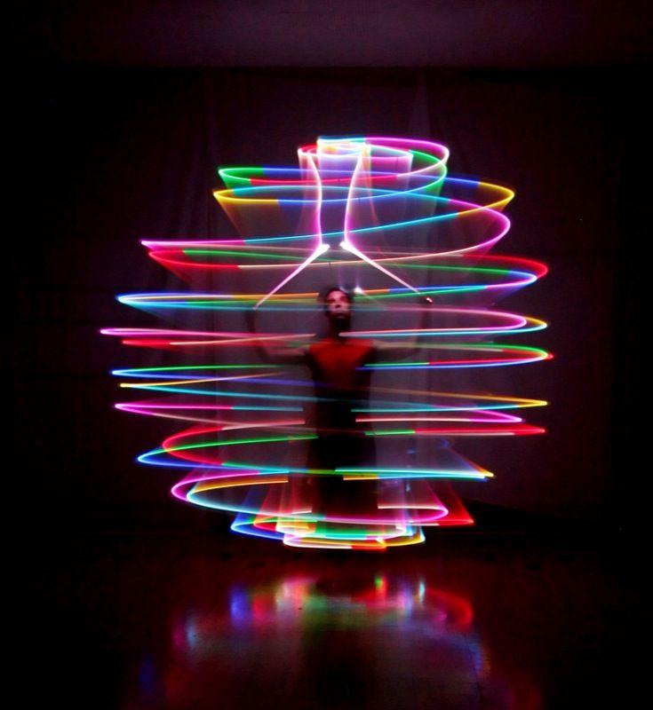 rainbow sphere spinning lights
