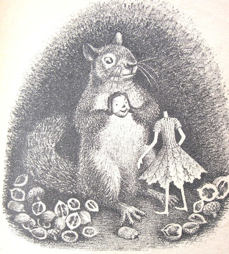 vintage squirrel illustration